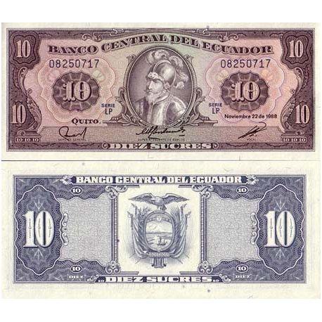 Equateur - Pk N° 121 - Billet de 10 Sucres