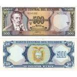 Beautiful banknote Ecuador Pick number 124 - 500 Sucre 1984