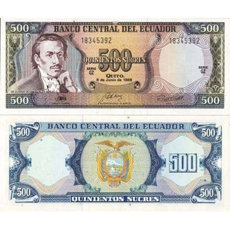 Billets de collection Billet de banque Equateur Pk N° 124 - 500 Sucres Billets de l'équateur 10,00 €