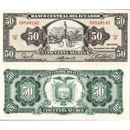 Equateur - Pk N° 122 - Billet de 50 Sucres