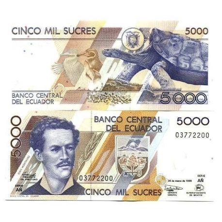 Billets de collection Billets de banque Equateur Pk N° 128 - 5000 Sucres Billets de l'équateur 6,00 €