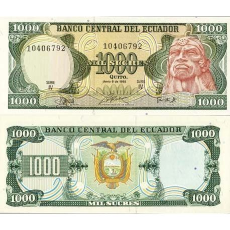 Billets collection Equateur Pk N° 125 - 1000 Sucres