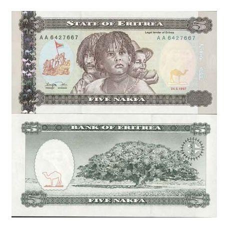 Eritrea - Pk No. 2 - 5 ticket Nafka
