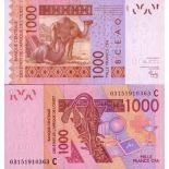 Billet de banque Afrique De L'ouest B Faso Pk N° 315 - 1000 Francs