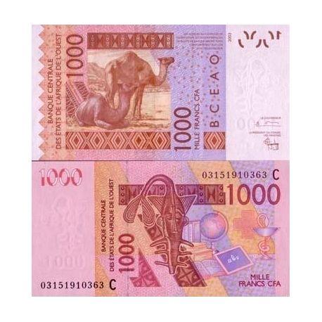 Afrique De L'ouest B Faso - Pk N° 315 - Billet de 1000 Francs