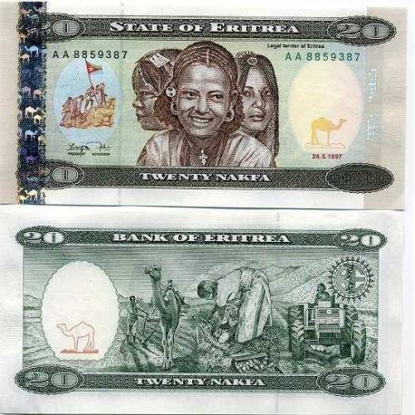 Eritrea - Pk No. 4 - Ticket 20 Nakfa
