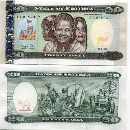 Erythree - Pk N° 4 - Billet de 20 Nakfa