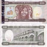 Billets de banque Erythree Pk N° 3 - 10 Nakfa
