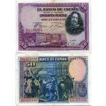 Bello banconote Spagna Pick numero 75 - 50 Peseta