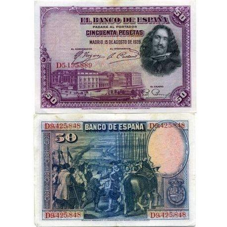 Billets de collection Billets banque Espagne Pk N° 75 - 50 Pesetas Billets d'Espagne 5,00 €