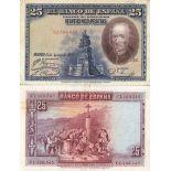 Collezione di banconote Spagna Pick numero 74 - 25 Peseta