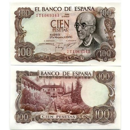 Billet de collection Espagne Pk N° 152 - 100 Pesetas