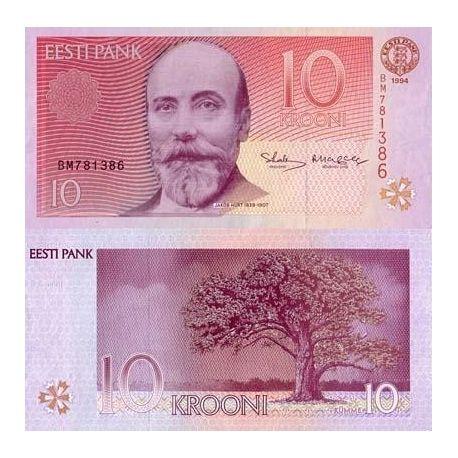 Estonie - Pk N° 77 - Billet de 10 Krooni