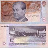 Colección Billetes Estonia Pick número 76 - 5 Krooni 1994