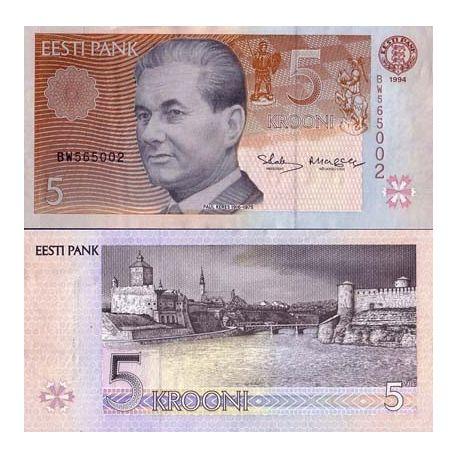 Estonie - Pk N° 76 - Billet de 5