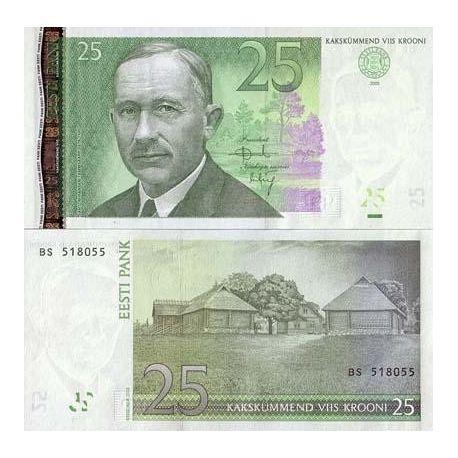 Estonie - Pk N° 84 - Billet de 25 Krooni