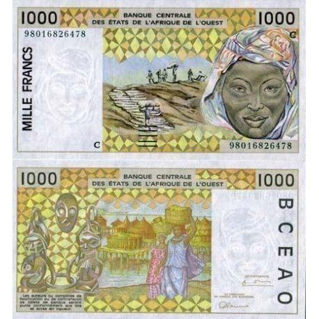 West Africa B Faso - Pk # 311 - ticket 1000 Francs