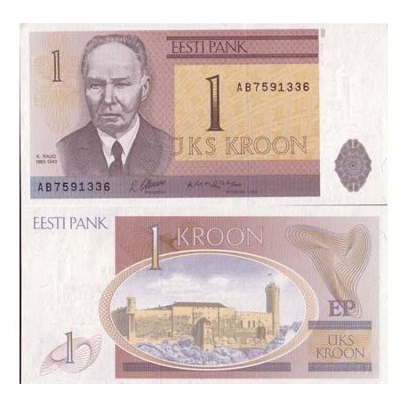 Billets de collection Billets banque Estonie Pk N° 69 - 1 Kroon Billets d'Estonie 6,00 €