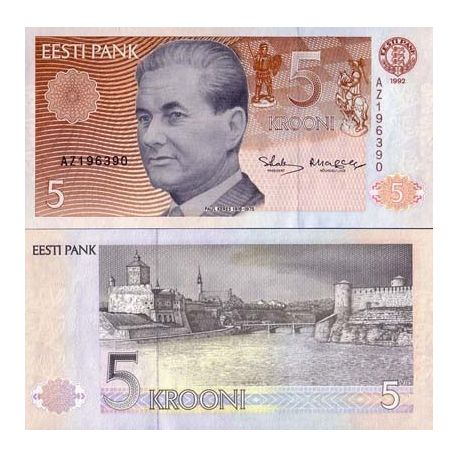 Estonie - Pk N° 71 - Billet de 5 Kroon