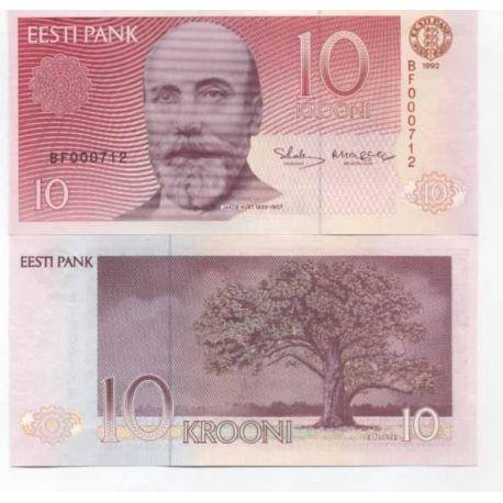 Estonie - Pk N° 72 - Billet de 10 Krooni