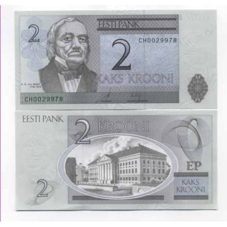 Billets de collection Billets banque Estonie Pk N° 85 - 2 Kroon Billets d'Estonie 2,00 €