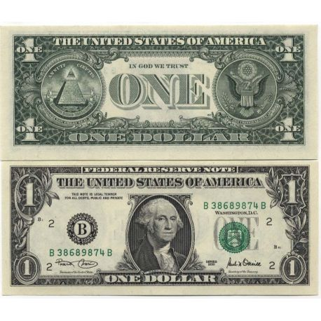 Billets de collection Billets collection Etats Unis Pk N° 509 - 1 DOLLAR Billets des Etats Unis 5,00 €