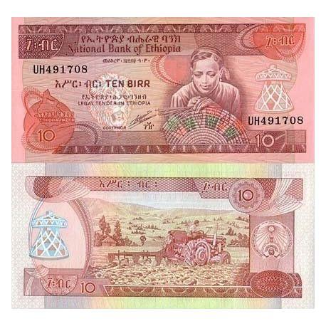 Billets de collection Billet de collection Ethiopie Pk N° 43 - 10 Birr Billets d'Ethiopie 10,00 €