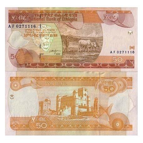 Billets de banque Ethiopie Pk N° 49 - 50 Birr