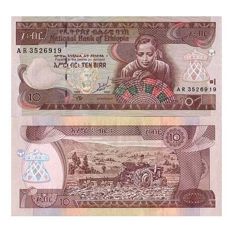 Billets de collection Billets collection Ethiopie Pk N° 48 - 10 Birr Billets d'Ethiopie 7,00 €