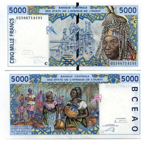 West Africa B Faso - Pk # 313 - ticket 5000 Francs