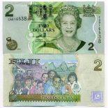 Banknoten Sammlung Fiji Pick Nummer 109 - 2 Dollar 2007