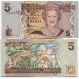 Banknoten Sammlung Fiji Pick Nummer 110 - 5 Dollar 2007