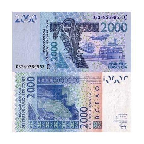 Afrique De L'ouest B Faso - Pk N° 316 - Billet de 2000 Francs