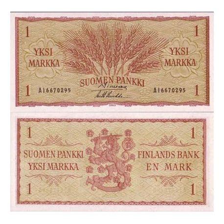 Billets de collection Billets de banque Finlande Pk N° 98 - 1 Markka Billets de Finlande 4,00 €