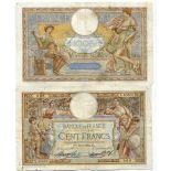 Colección de billetes Francia Pick número 86 - 100 FRANC