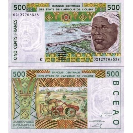 West Africa B Faso - Pk # 310 - Ticket 500 Francs