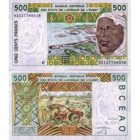 Afrique De L'ouest B Faso - Pk N° 310 - Billet de 500 Francs