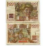 Schone Banknote Frankreich Pick Nummer 128 - 100 FRANC 1945