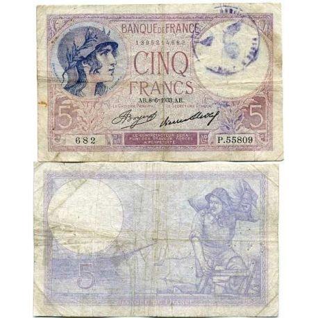 France - Pk N° 83 - Billet de 5 Francs