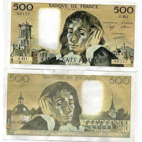 Frankreich - Pk Nr. 156-500 Franken Hinweis