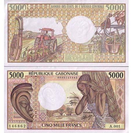 Billets de collection Billets banque GABON Pk N° 6 - 5000 Francs Billets du Gabon 49,00 €