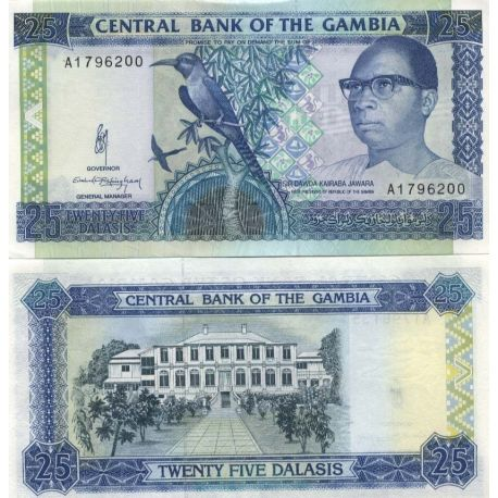 Gambie - Pk N° 14 - Billet de 25 Cedis