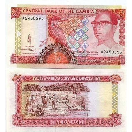 Gambia - Pk Nr. 12-5 Dalasis beachten