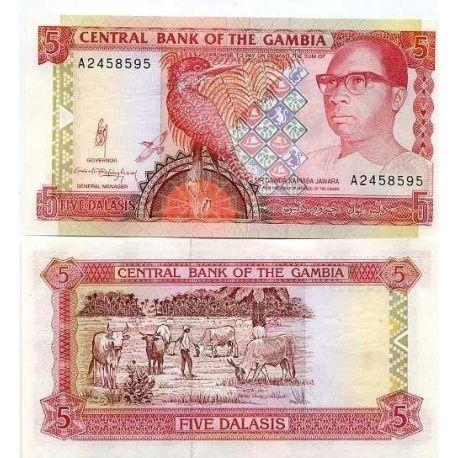 Billets de collection Billet de collection Gambie Pk N° 12 - 5 Dalasis Billets de Gambie 5,00 €