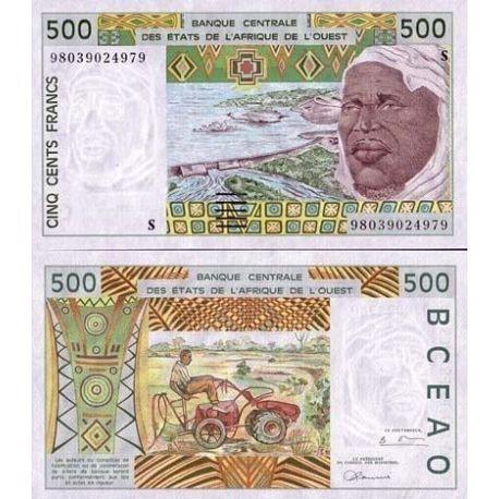 Billets de collection Billets collection Afrique De L'ouest Guinee Bissau Pk N° 910 - 500 Francs Billets de Guinée Bissau 13,...