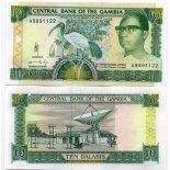 Banknoten Gambia Pick Nummer 13 - 10 Dalasi 1989