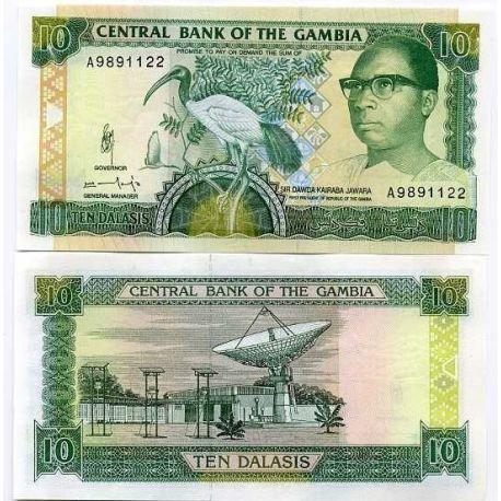 Gambia - Pk No. 13 - 10 ticket Dalasis