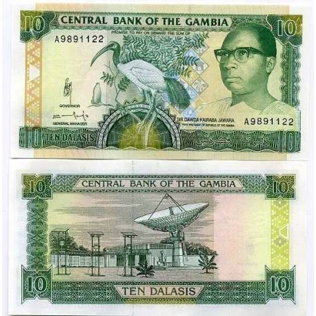 Billets de collection Billet de collection Gambie Pk N° 13 - 10 Dalasis Billets de Gambie 7,50 €