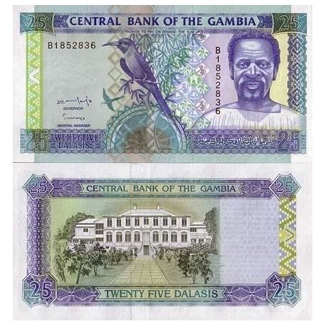 Gambie - Pk N° 18 - Billet de 25 Cedis