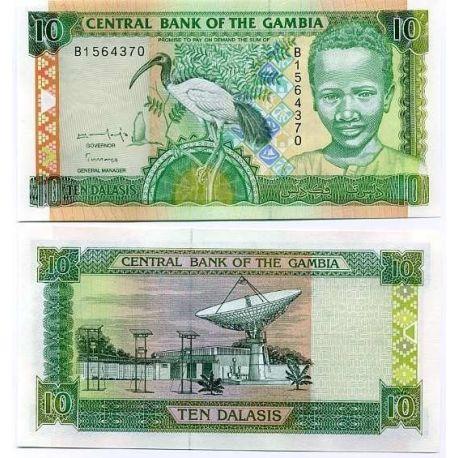 Billets banque Gambie Pk N° 17 - 10 Dalasis